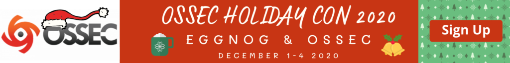 OSSEC Holiday Con 2020